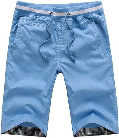 Pantalones Cortos para Hombres Juvenil Verano Algodón Casual Playa ...