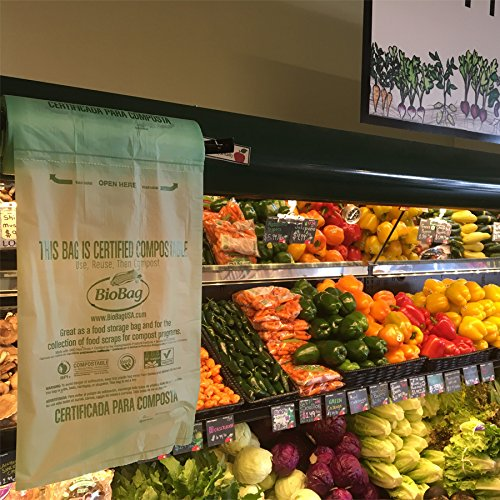 BioBag Compostable Produce Bags Case of 3,200 bags by BioBag