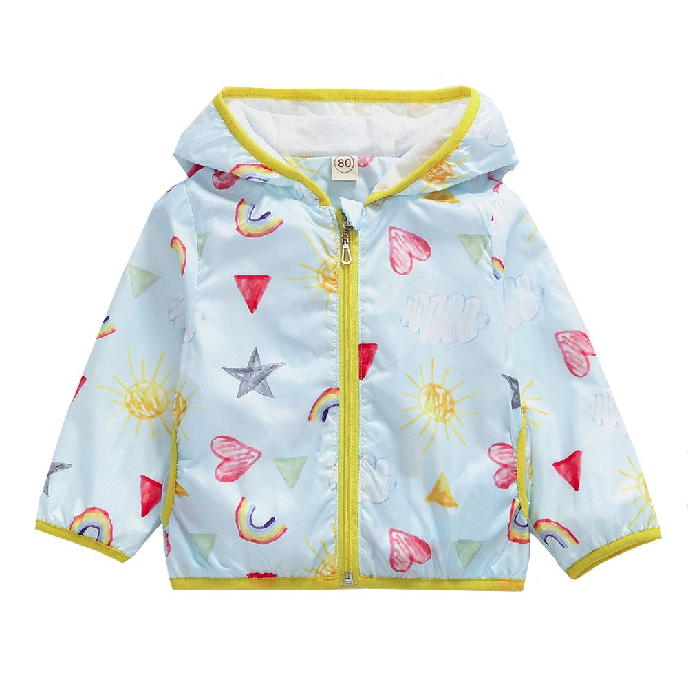 SMALLE ◕‿◕ Clearance,Fashion Cute Boys Girls Clothes Coat Sunscreen Coat Hooded Printing Coat Clothes by SMALLE