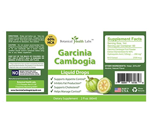Amazon Garcinia Cambogia Liquid Weight Loss Diet Drops Fast