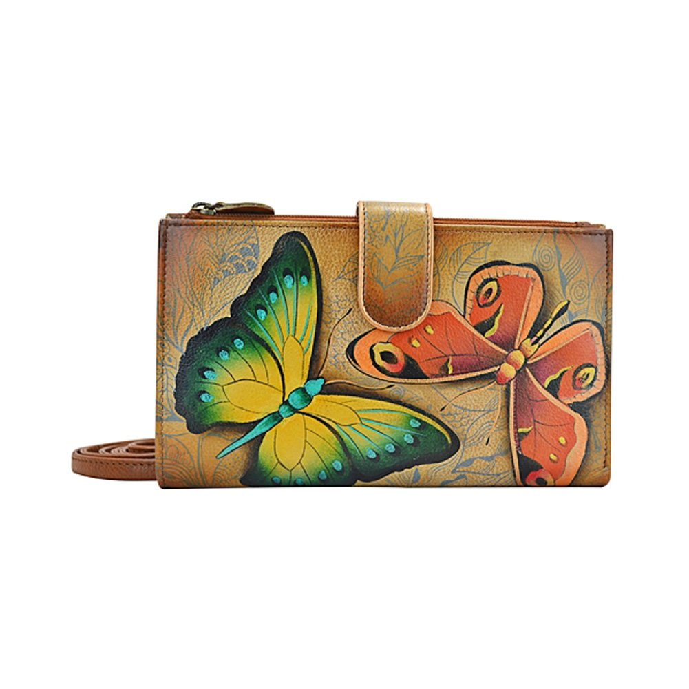 Anuschka Hand Painted Large Smartphone Case & Wallet Earth Song Wallet, Est-Earth Song, One Size