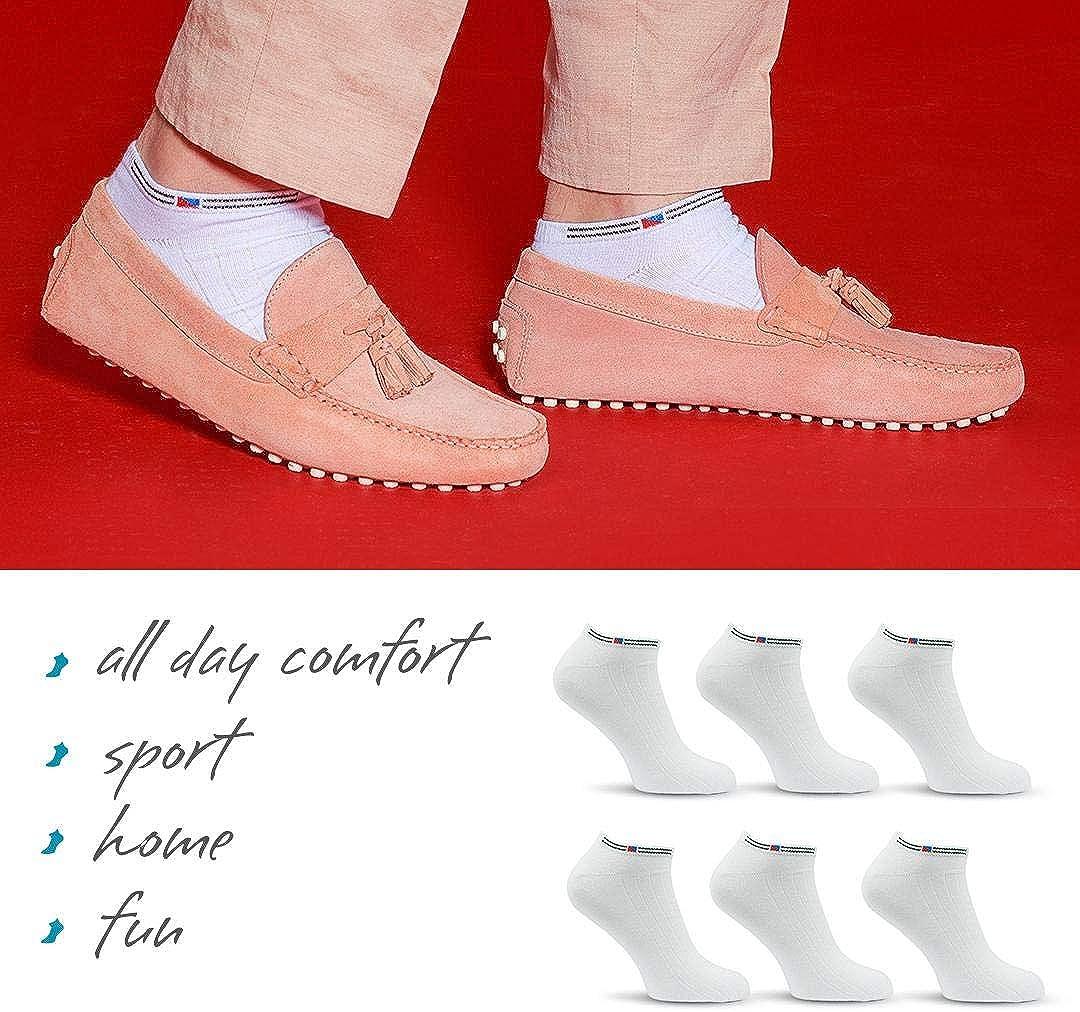 Wei/ß oder Mix Baumwollenreiche Qualit/ät! Schwarz Herren und Jugendliche verschiedene Gr/össen SoftSocks Klassische SNEAKER Socken f/ür Damen 6 Paar