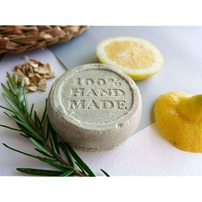 Champú sólido para cabello graso artesanal y ecológico - 100% natural y vegano