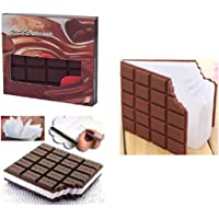 INFInxt Chocolate Shaped Stylish Note-Book Multipurpose Book in Brown Color for Return Gift