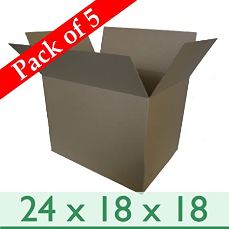 5 cartón cajas de embalaje de almacenamiento extra grande 24 x 18 x 45,72