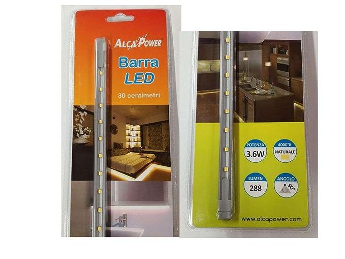Kit barra led alimentatore 30cm luce naturale x armadi mensole
