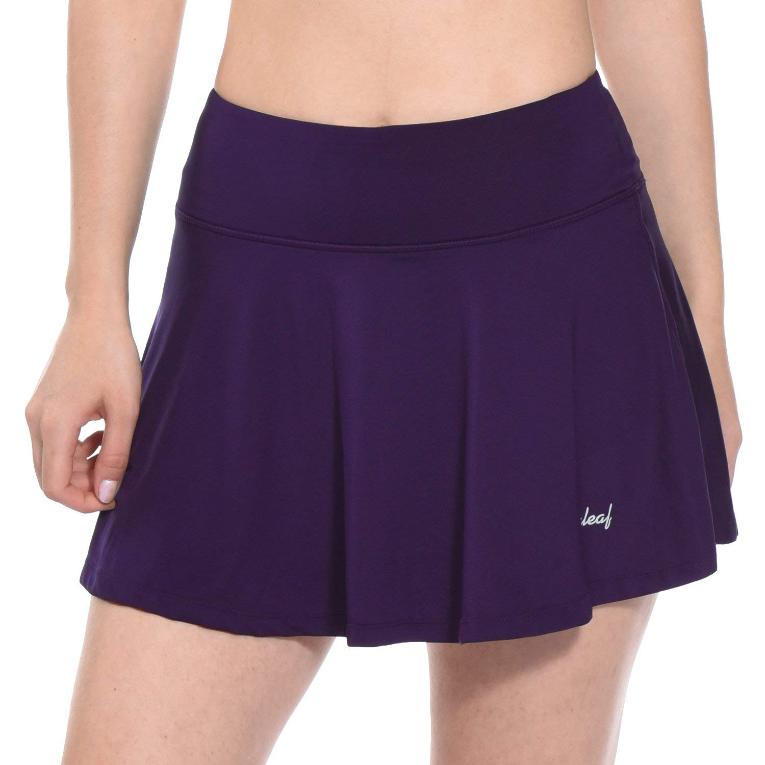 BALEAF Women's Running Skirt Lightweight Skort for Tennis Golf Workout Purple Size XL by BALEAF