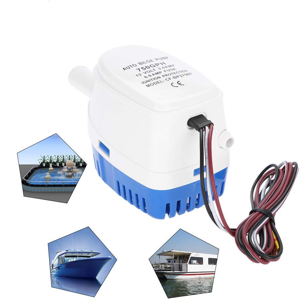 12V 1100GPH Submersible Bilge Water Pump Boat Marine Pond Caravan Camping