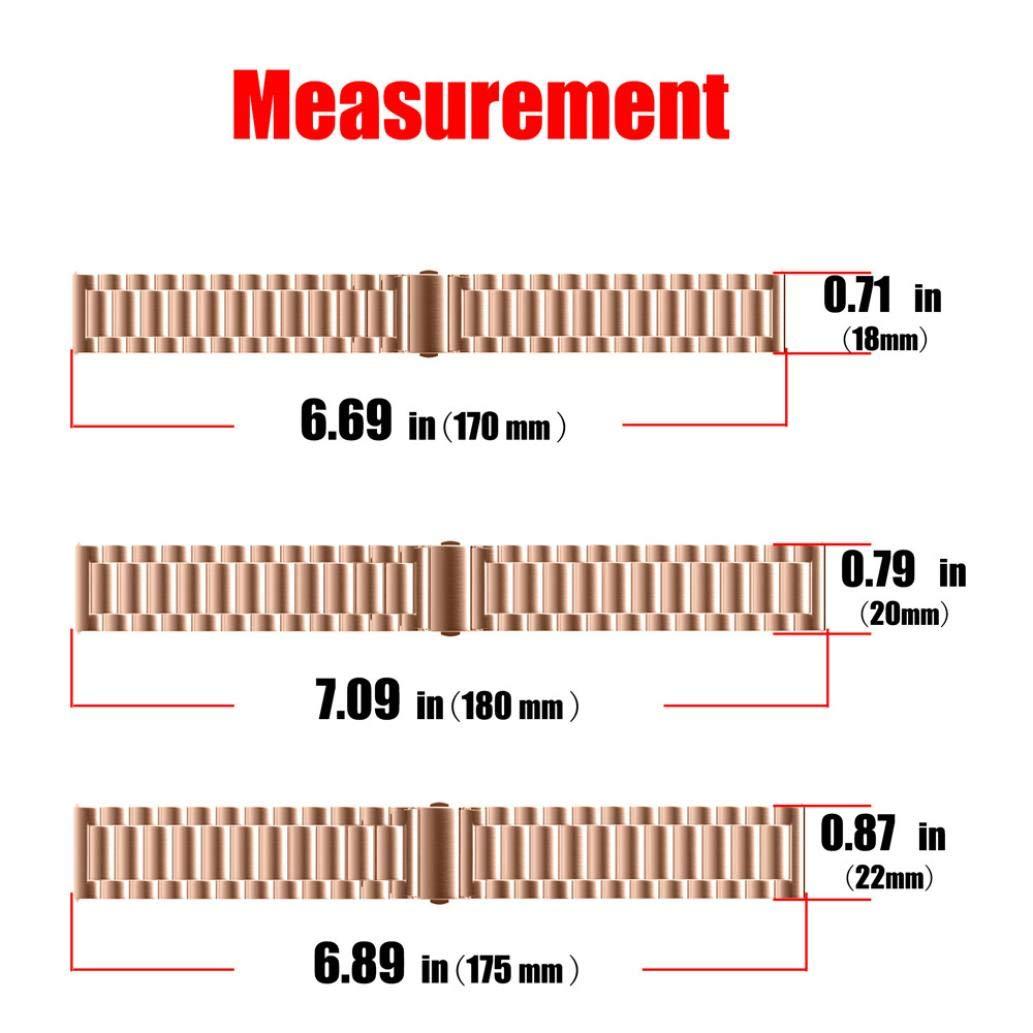 JiaMeng Nueva Cintas magnéticas milanesas Pulsera Ligera de Acero Inoxidable de Moda Correa la Correa de Reloj del Lazo 22/20/18/16 / 14MM: Amazon.es: Ropa ...