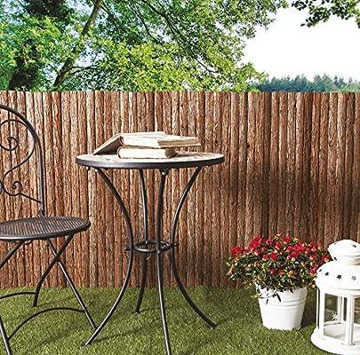 EGLEMTEK – Valla de Corteza de Pino Wood protección para balcón jardín Exterior: Amazon.es: Jardín