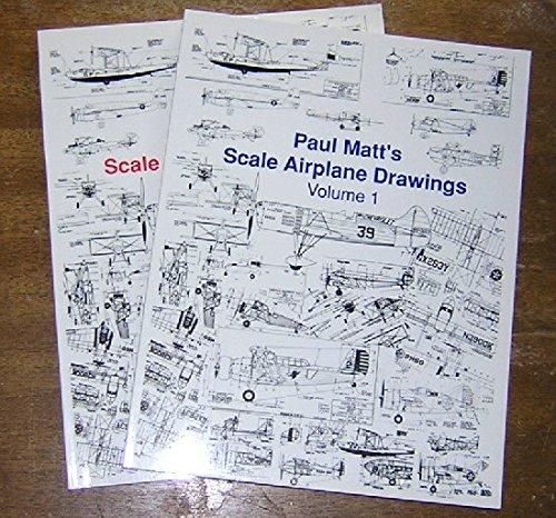 Paul Matt's Scale Airplane Drawings  Volume 1 & 2 (Aviation Heritage Library Series) ()