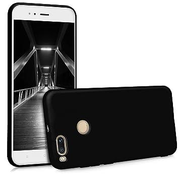 kwmobile Funda compatible con Xiaomi Mi 5X / Mi A1 - Carcasa de TPU silicona - Protector trasero en negro mate