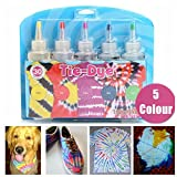 Essort Fabric Textile Paints Tie Dye Kit Vibrant Fabric Textile Permanent Paint Colours, Tie-Dye Kit