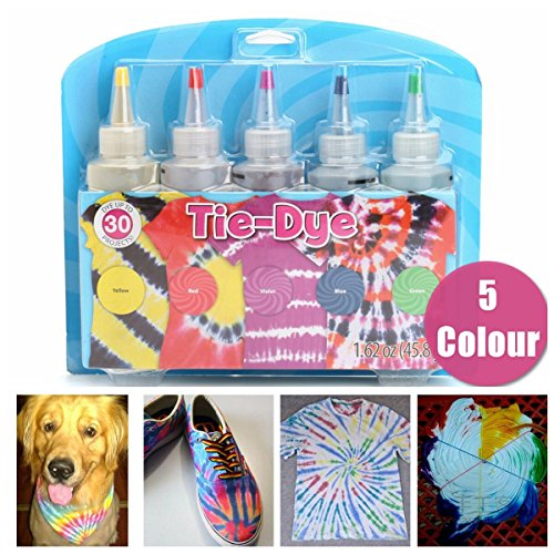 Tie Dye Fabric Paint - Essort Fabric Textile Paints Tie Dye Kit Vibrant Fabric Textile Permanent Paint Colours, Tie-Dye Kit
