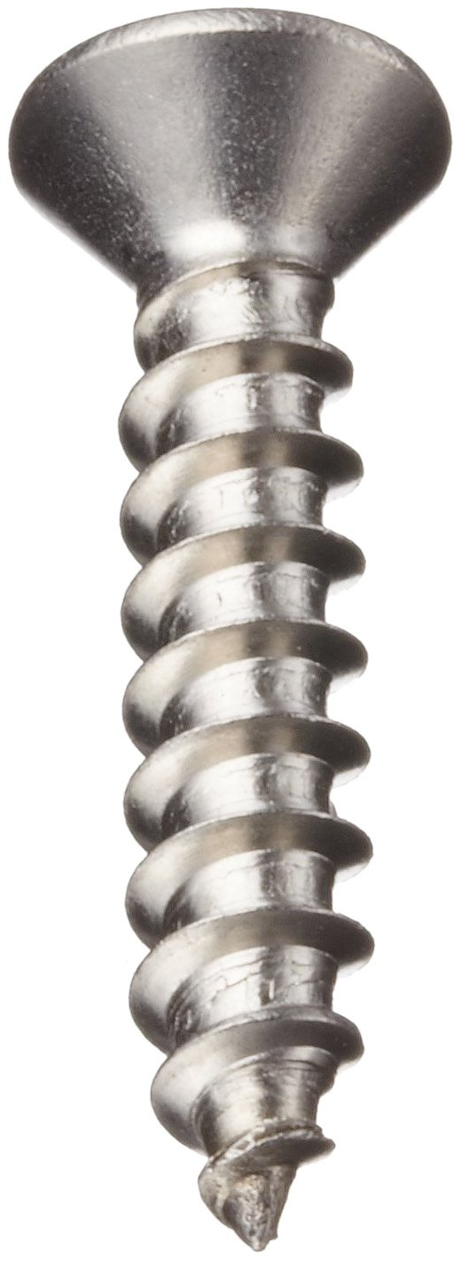 Oval Head #14-10 Threads Plain Finish 1-1//4 Length Phillips Drive Pack of 100 Stainless Steel Sheet Metal Screw