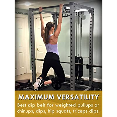 Dipping Belt BodyBuilding Weight Dip Lifting Chain GYM Plate Exercise Yellow UK