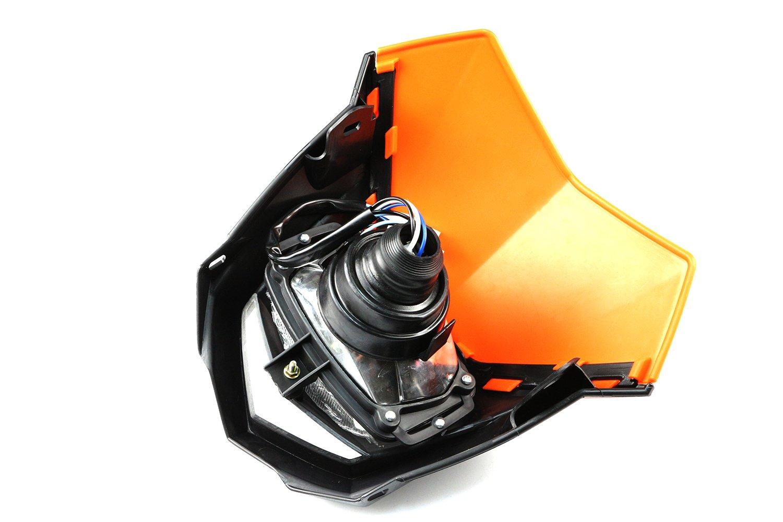 Phare Universel Avant Moto Tout Terrain Motocross Enduro Supermoto