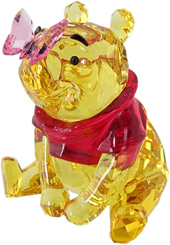 Swarovski Winnie The Pooh with Butterfly, Crystal, Multicoloured, 6.5 x 5.6 x 5.5 cm