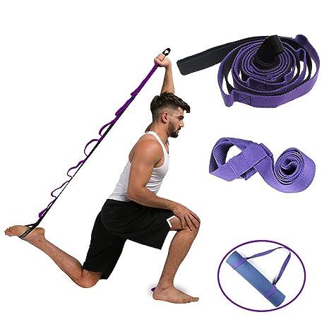 EQLEF Yoga Strap Banda de Ejercicios de Yoga con bucles ...