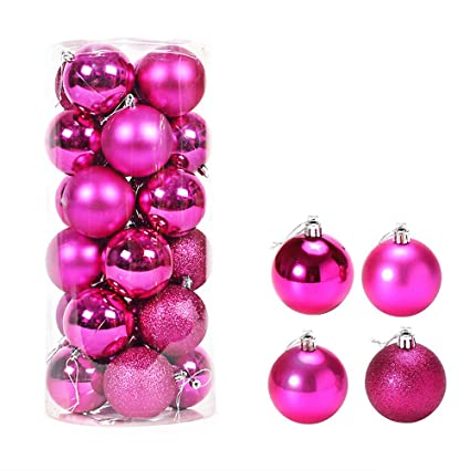christmas ornaments 40mm colorful christmas tree ball bauble hanging xmas plastic hanging baubles christmas tree