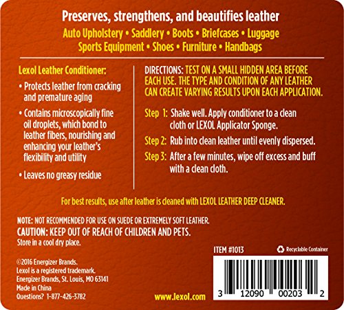 Lexol 1013 Leather Conditioner, 1-Liter