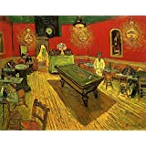 Wieco Art - The Night Cafe in the Place Lamartine in Arles by Van Gogh Famous Oil Paintings Reproduction Artwork Pictures on Canvas Wall Art Abstract Canvas Prints for Home Office Decorations