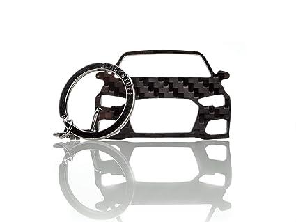 BlackStuff Llavero De Fibra De Carbono Cadena De Claves Compatible con A3 S3 RS3 8V 2012-2017