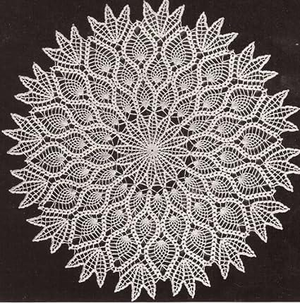 Amazon Vintage Crochet Pattern To Make Pineapple Doily