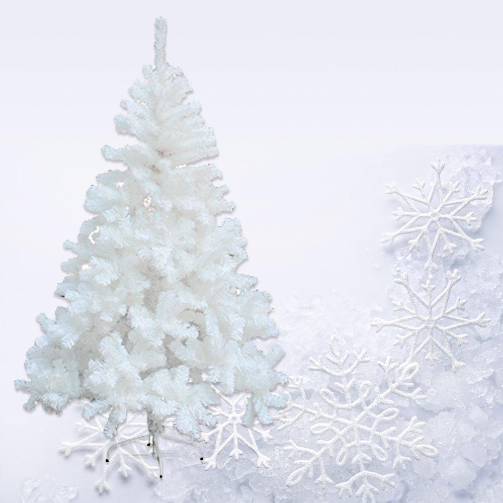 HG® 180cm Weiß Künstlicher Weihnachtsbaum Tannenbaum Dekobaum mit ...