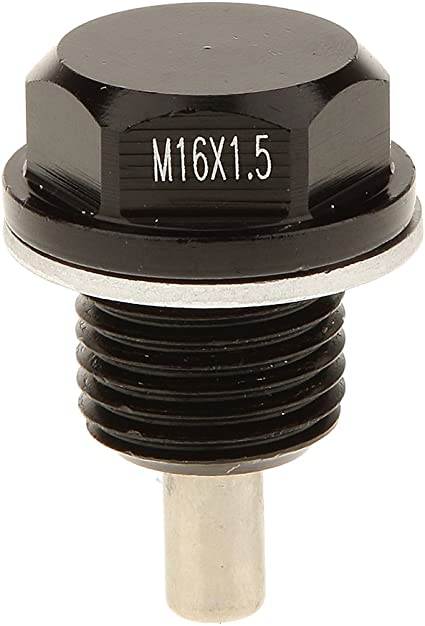 Noir M12x1.25 Anodis/é Magn/étique Moteur Carter Dhuile Bouchon De Vidange Voiture Pour Toyota