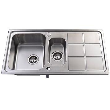 Interessant Edelstahl Spüle Küchenspüle Spültisch Spülbecken Einbauspüle mit  VU54