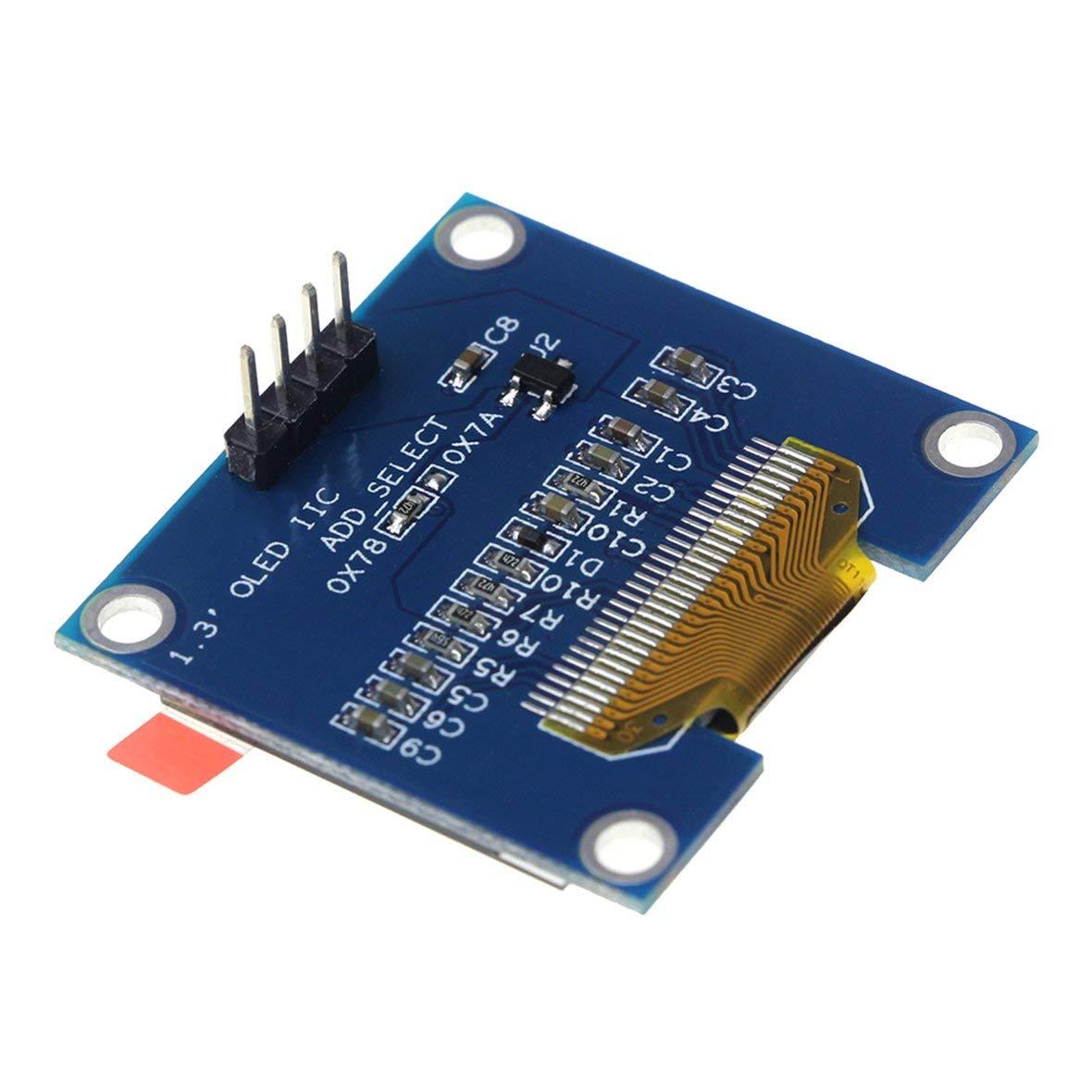 Blue 1.3 Inch 4 Pin I2C IIC Serial 128X64 OLED LCD LED Display Module SH1106 for Arduino 51 MSP420 STIM32 SCR SPI OLED Display