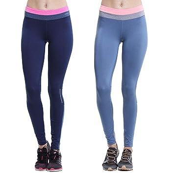 FLLH Womens Sport Leggings Bolsillo Oculto de Alta Cintura ...