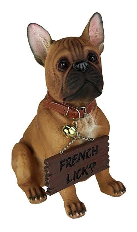 amazon com french bulldog welcoming statue for dog lovers by dwk