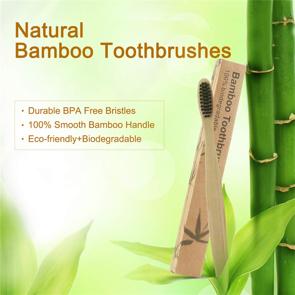 Amazon.com: Cepillo de dientes de bambú natural con infusión ...