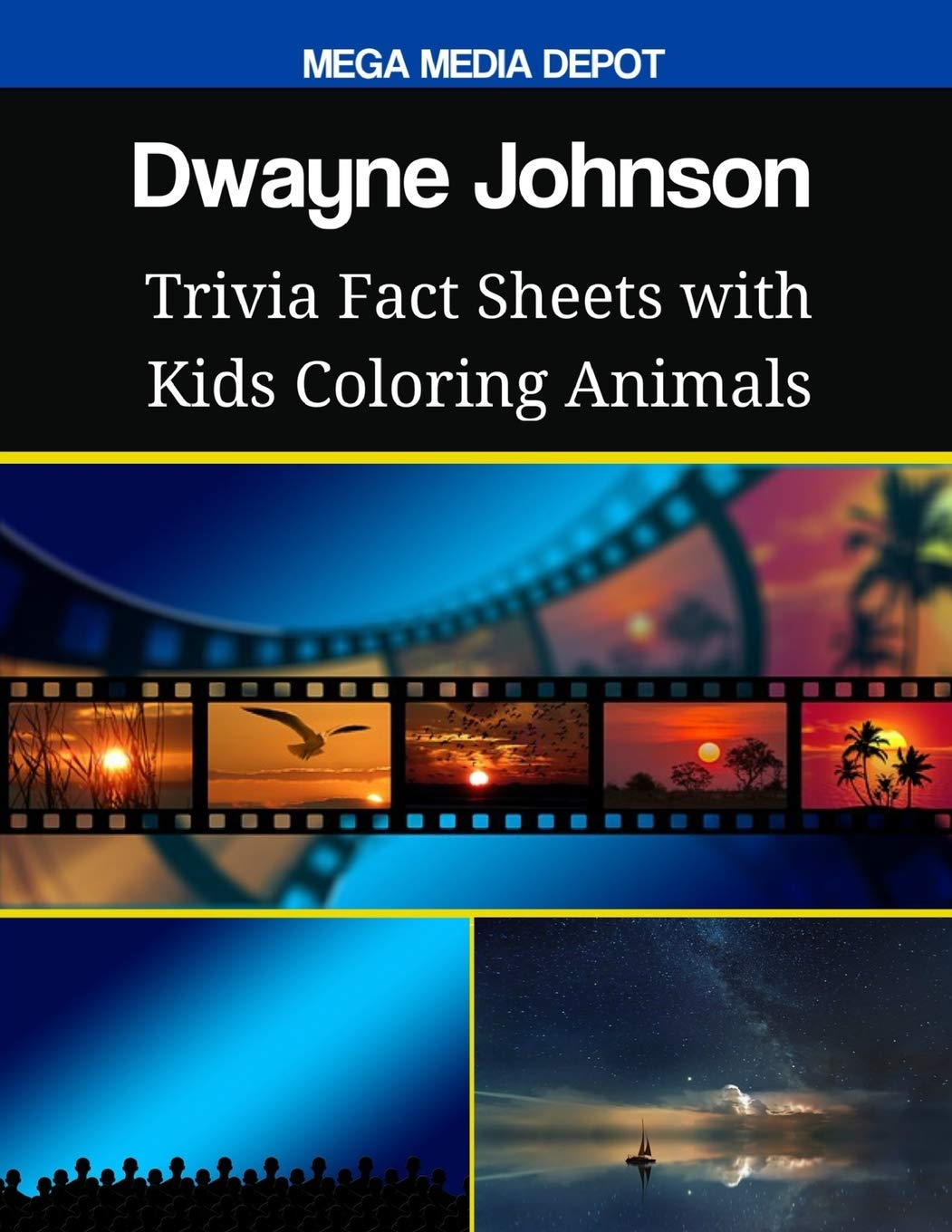 Dwayne Johnson Trivia Fact Sheets With Kids Coloring Animals