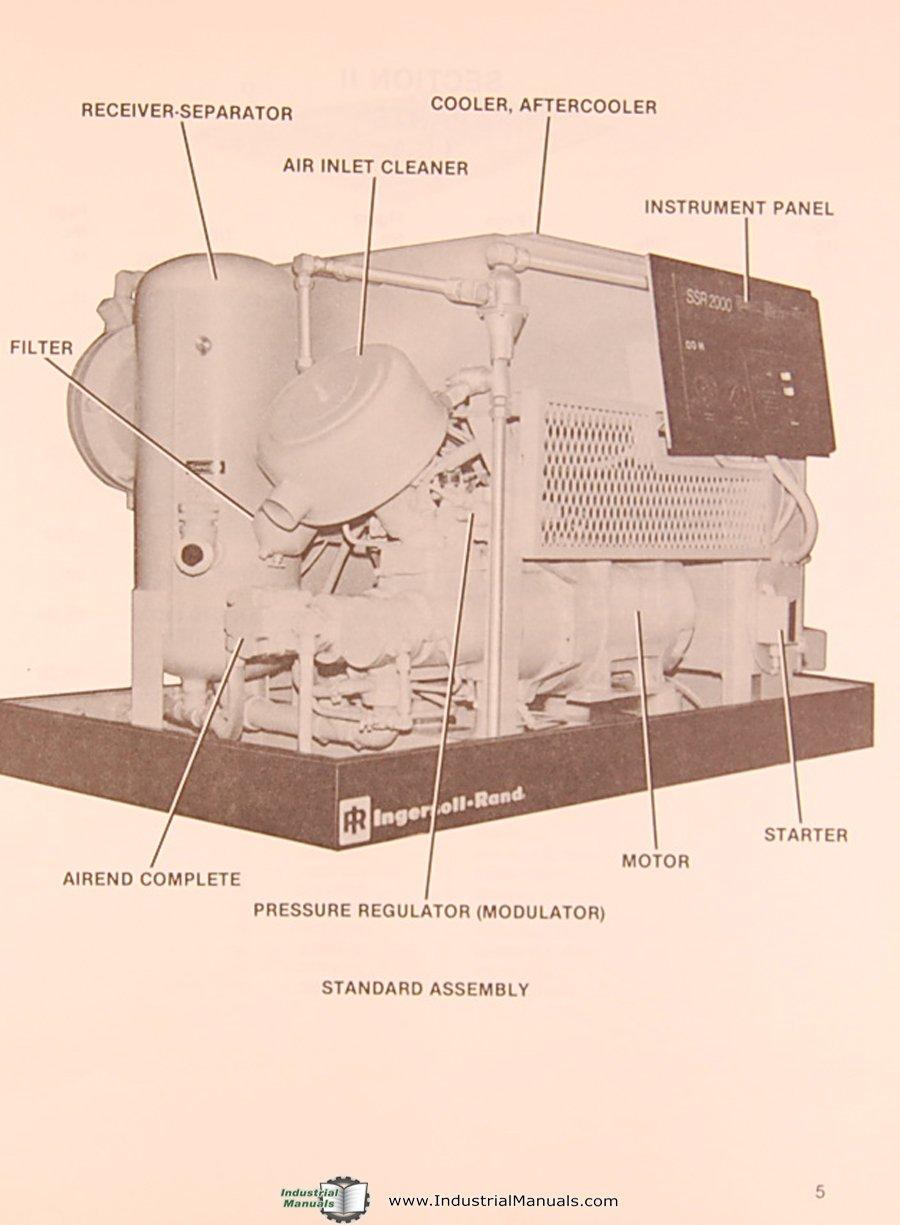 Ingersoll Rand SSR 2000, Air Compressor, Parts List Manual: Ingersoll Rand:  Amazon.com: Books