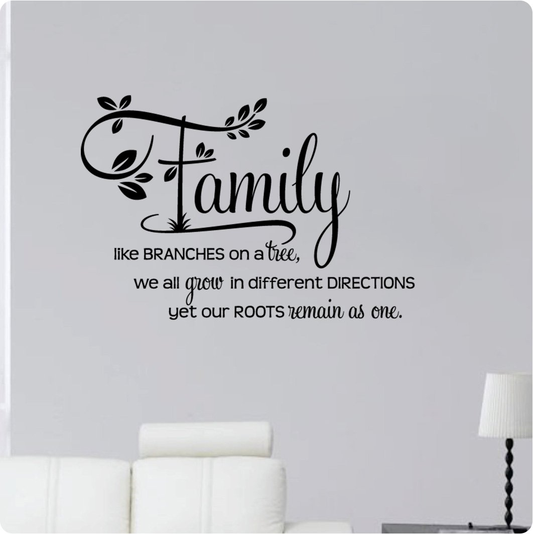 Amazon 34 family like branches on a tree we all grow in amazon 34 family like branches on a tree we all grow in different directions yet our roots remain as one wall decal sticker art mural home dcor amipublicfo Images