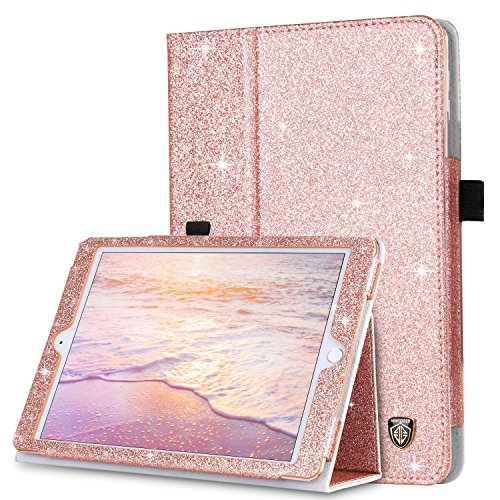 iPad Mini Case, iPad Mini 2 Case, iPad Mini 3 Case, BENTOBEN Glitter Sparkly Folio Folding Stand Cover with Holder & Auto Wake/Sleep Luxury Smart Case Without Stylus for iPad - For Ipad Girls Cases