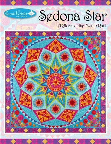 - Sedona Star a Block of the Month Quilt Machine Embroidery Design by Sarah Vedeler Designs
