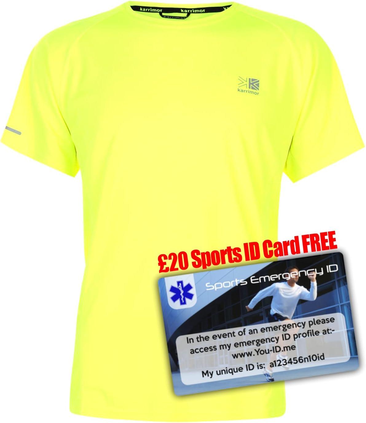 Karrimor Hommes T-Shirt De Sport Manche Courte Col Montant Respirant Running Top