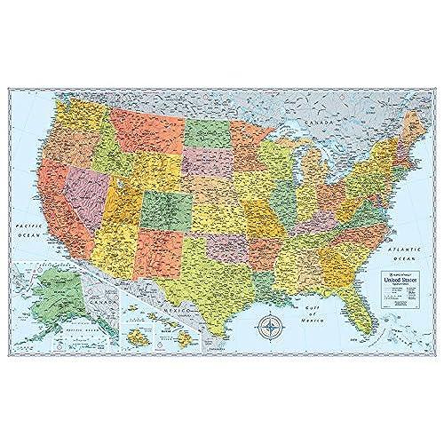 Map of USA Amazoncom