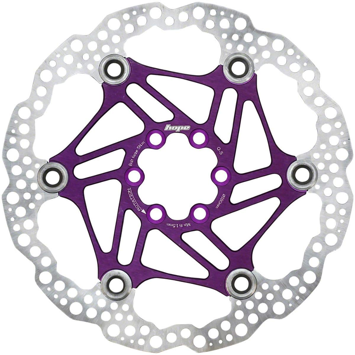 Hope Floating Disc Rotor: 180mm Purple by Hope