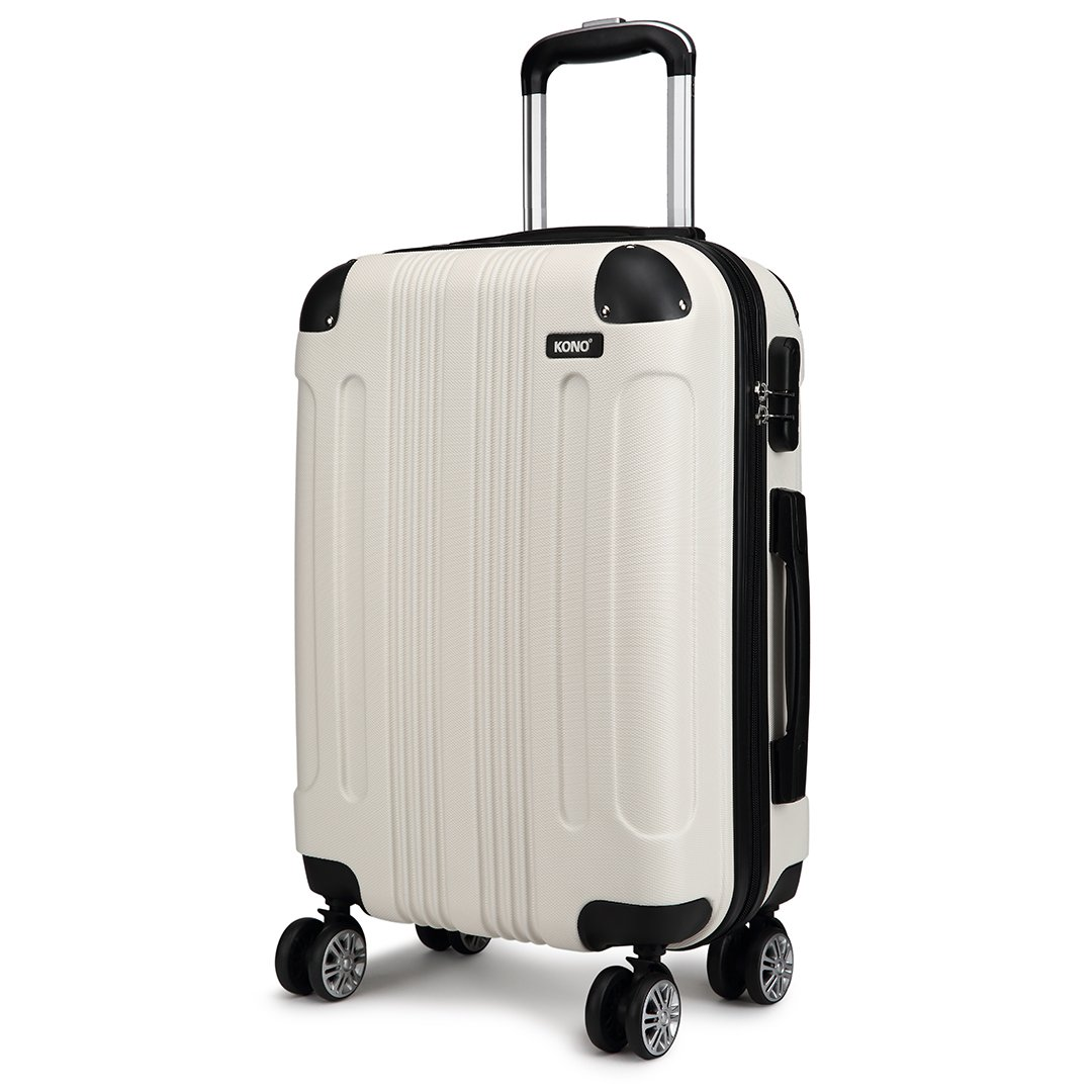 Color : Metallic, Size : 28 20//24//28 Simple and Silver Latest Style Spinner Suitcase Hard Case Shengshihuizhong Carry On Luggage Simple Style
