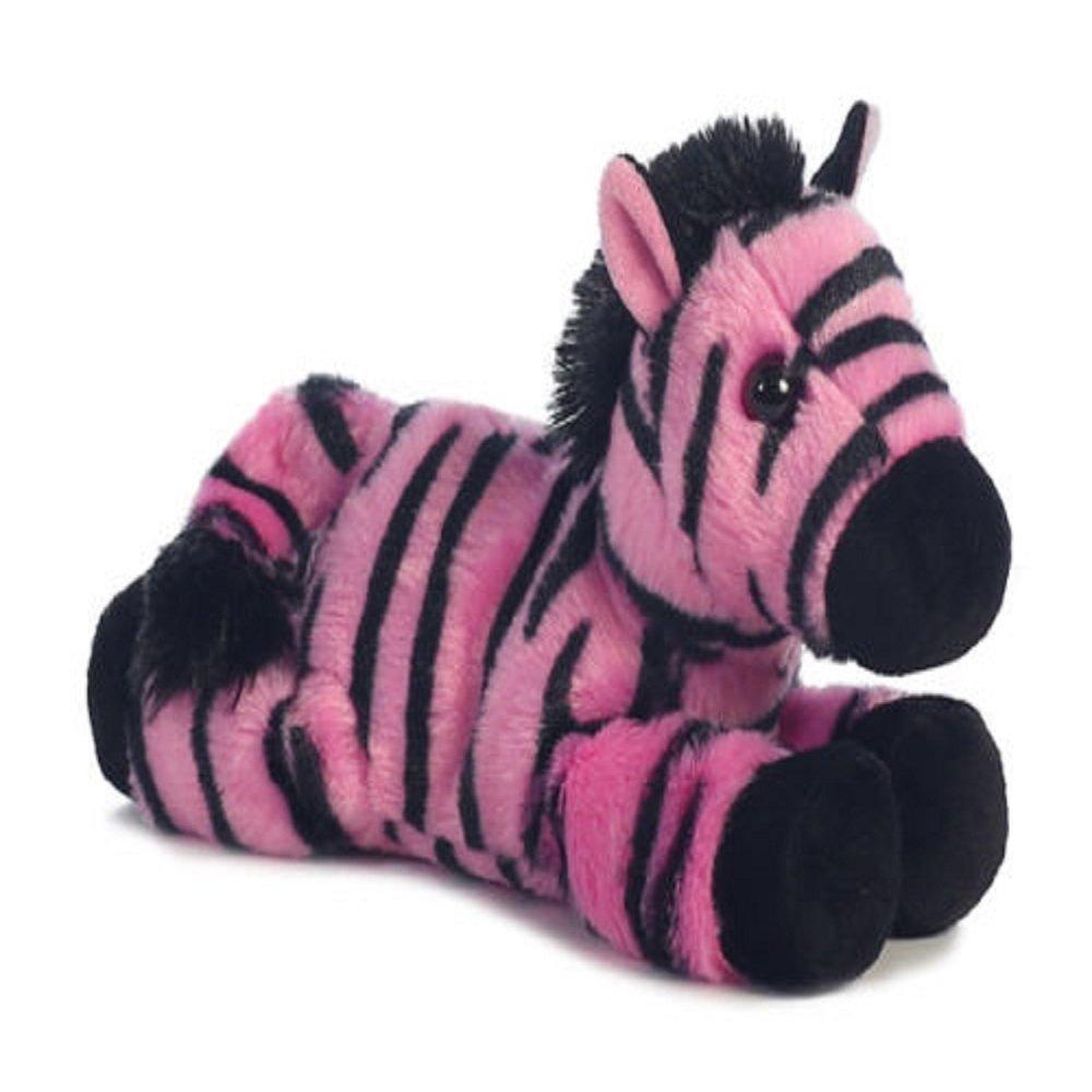 Amazon Com 8 Mini Flopsie Fantasy Zebra Pink Zebra Soft Stuffed