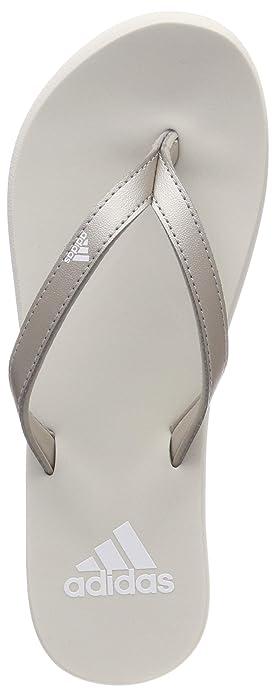 outlet store dc5dc 9bca0 adidas Damen Eezay Flip Flop Badeschuhe Grigio Platinum Met.FTWR Raw  White, 43