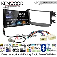 Volunteer Audio Kenwood DMX7704S Double Din Radio Install Kit with Apple CarPlay Android Auto Bluetooth Fits 2012-2013 Hyundai Accent