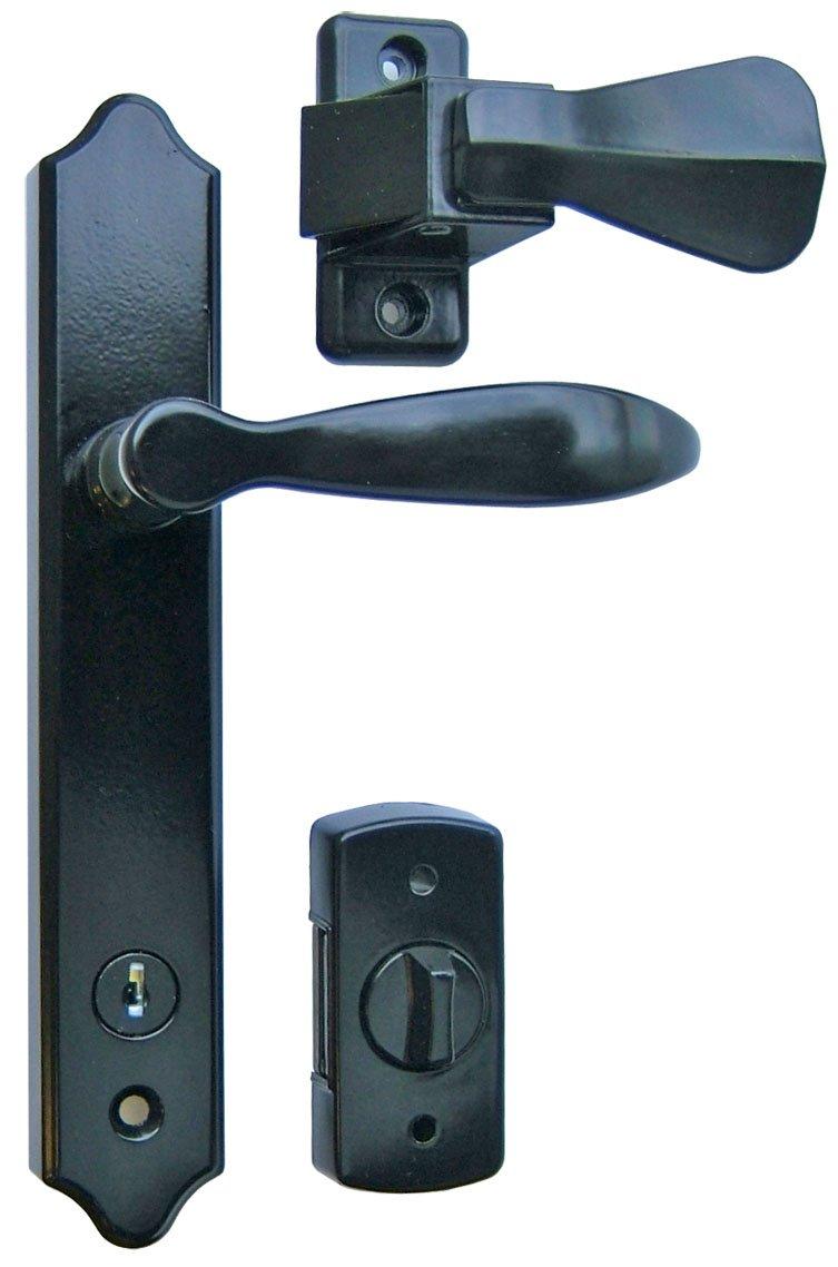 security screen door locks. ideal security sk1215bl deluxe storm door handle set with deadbolt black amazoncom screen locks a