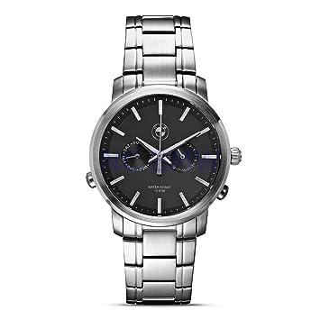 BMW auténtica estilo de vida reloj cara gris para hombre: Amazon.es: Coche y moto