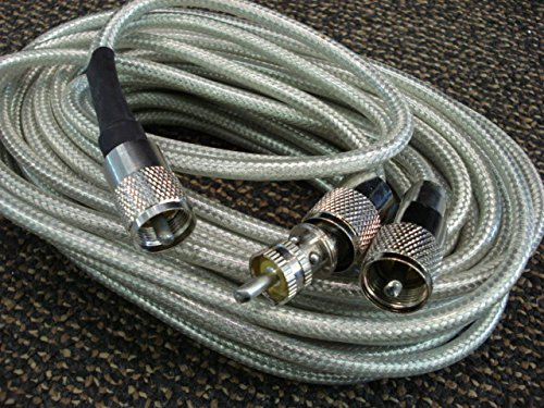 CB Radio Truck 18 ft Belden Co-Phase Dual Whip Coaxial Cable Soldered Amphenol type PL259 (Phase Coaxial)